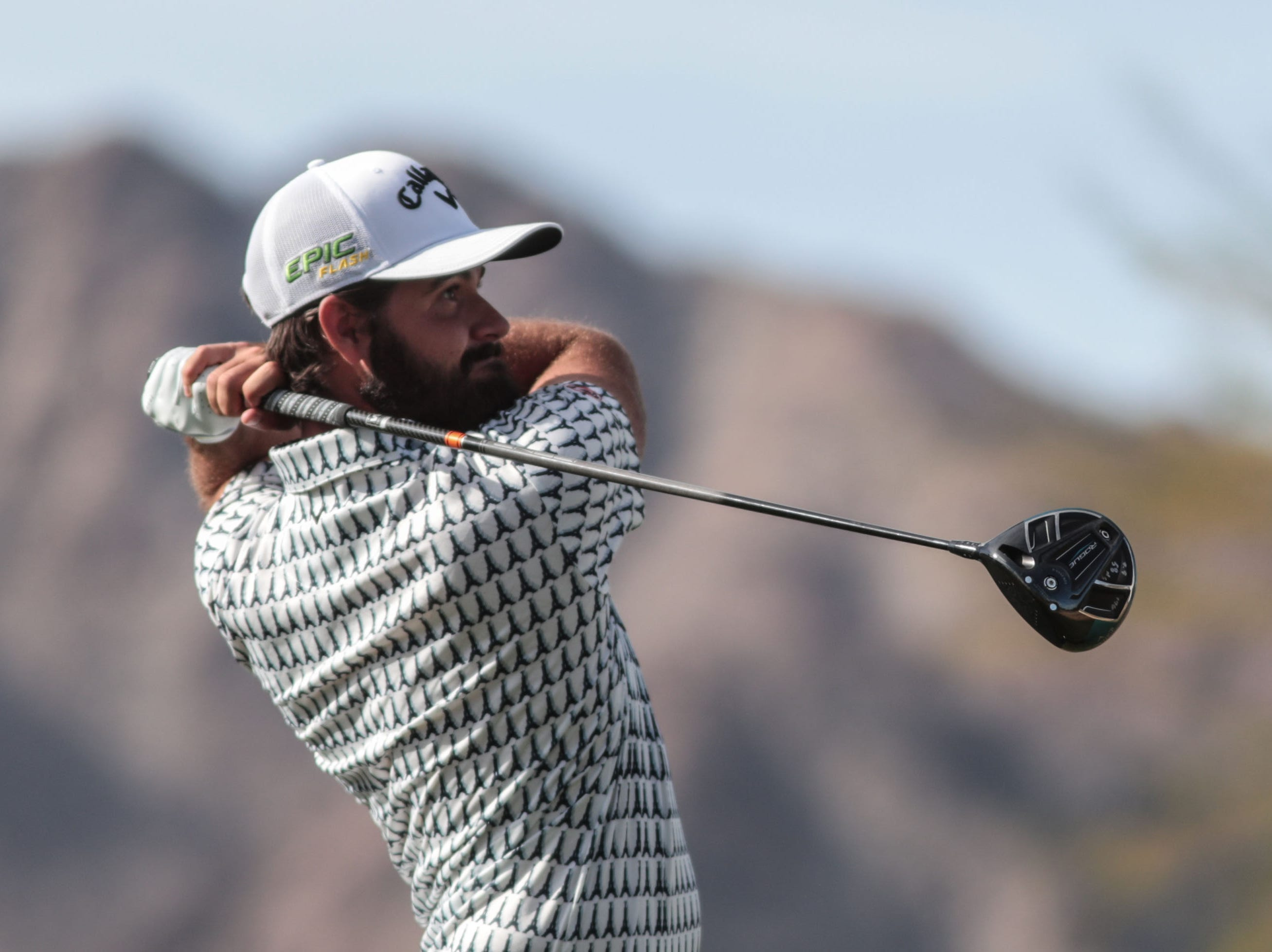 Curtis Luck tees off on 1 on the Nicklaus Tournament Course at PGA West in La Quinta during the 2nd round of the Desert Classic on Friday, January 18, 2019.