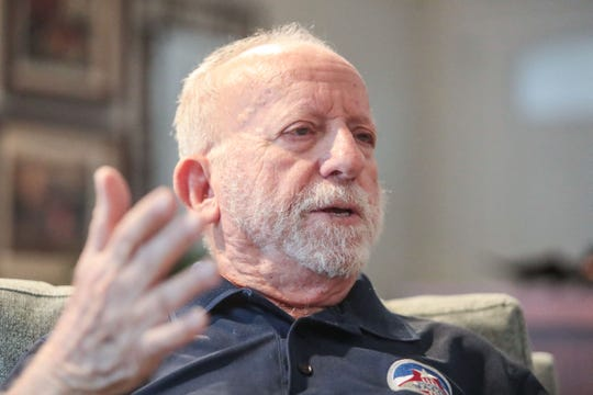 World War II veteran who participated in the D-Day landing in France George Ciampa, of Palm Springs, is raising money to attend a ceremony in France with seven other veterans. He hopes to make a film about the trip to show the cost of freedom. Ciampa is photographed at his Palm Springs home on January 15, 2019.