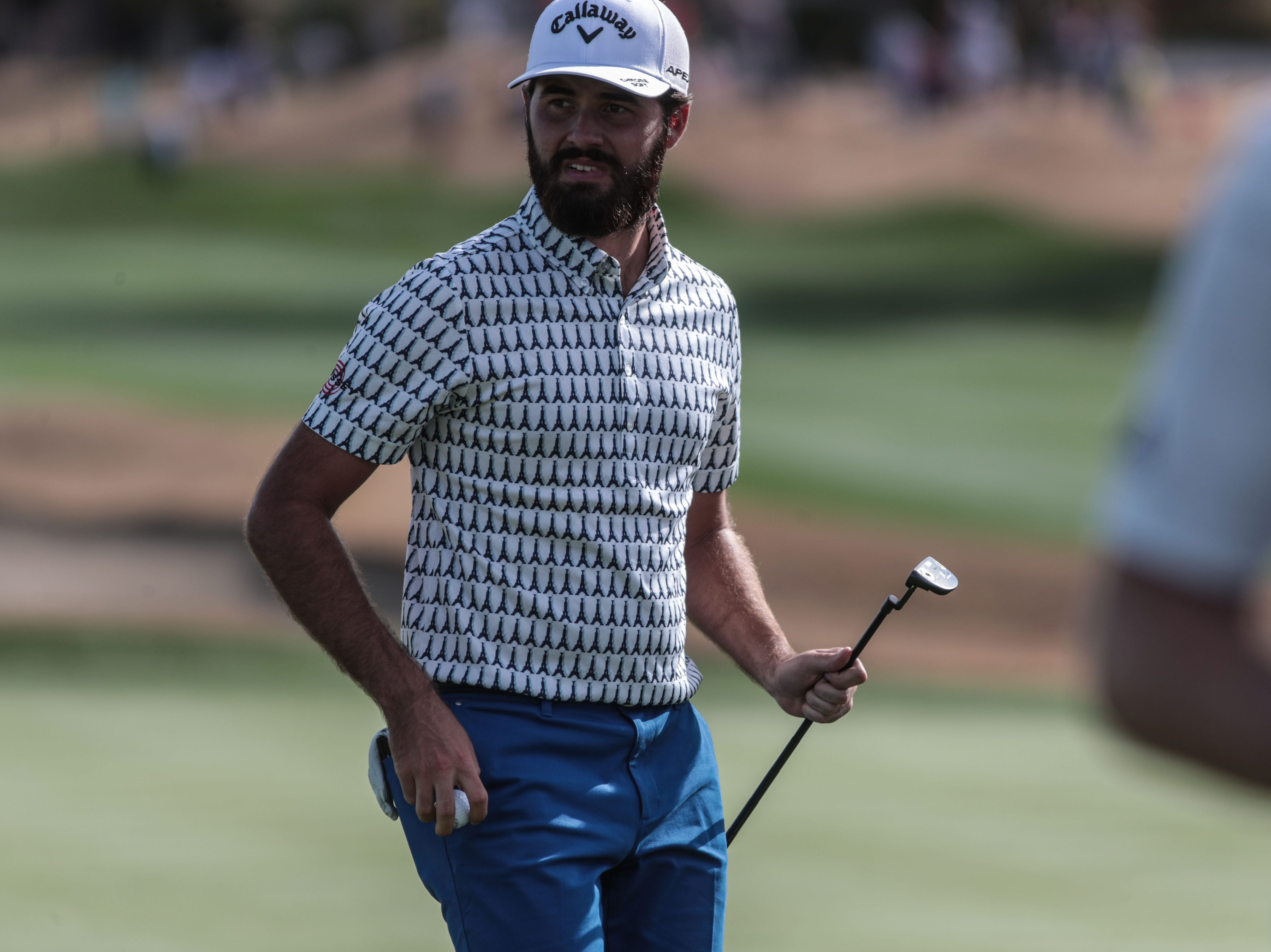 Curtis Luck on 18 on the Nicklaus Tournament Course at PGA West in La Quinta during the 2nd round of the Desert Classic on Friday, January 18, 2019.