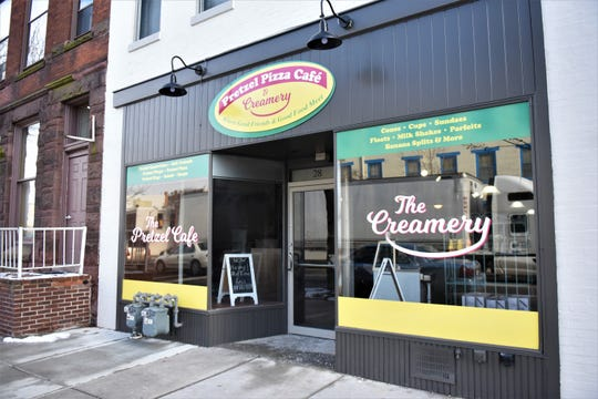 This is the new Pretzel Pizza Cafe & Creamery on Frederick Street in downtown Hanover.