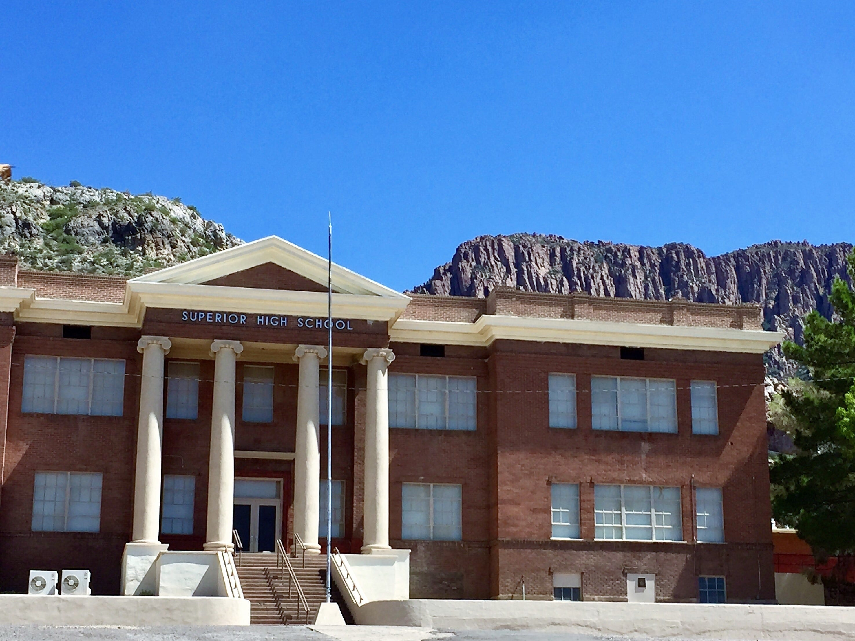 The former Superior High School has been converted into a home.