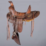 A G.S. Garcia miniature saddle is one of the items up for sale at the Mesa Old West Show and Auction.