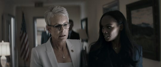 """Jamie Lee Curtis (L) as Rachel Burkein and Tika Sumpter as Elizabeth Lamb in """"An Acceptable Loss."""""""