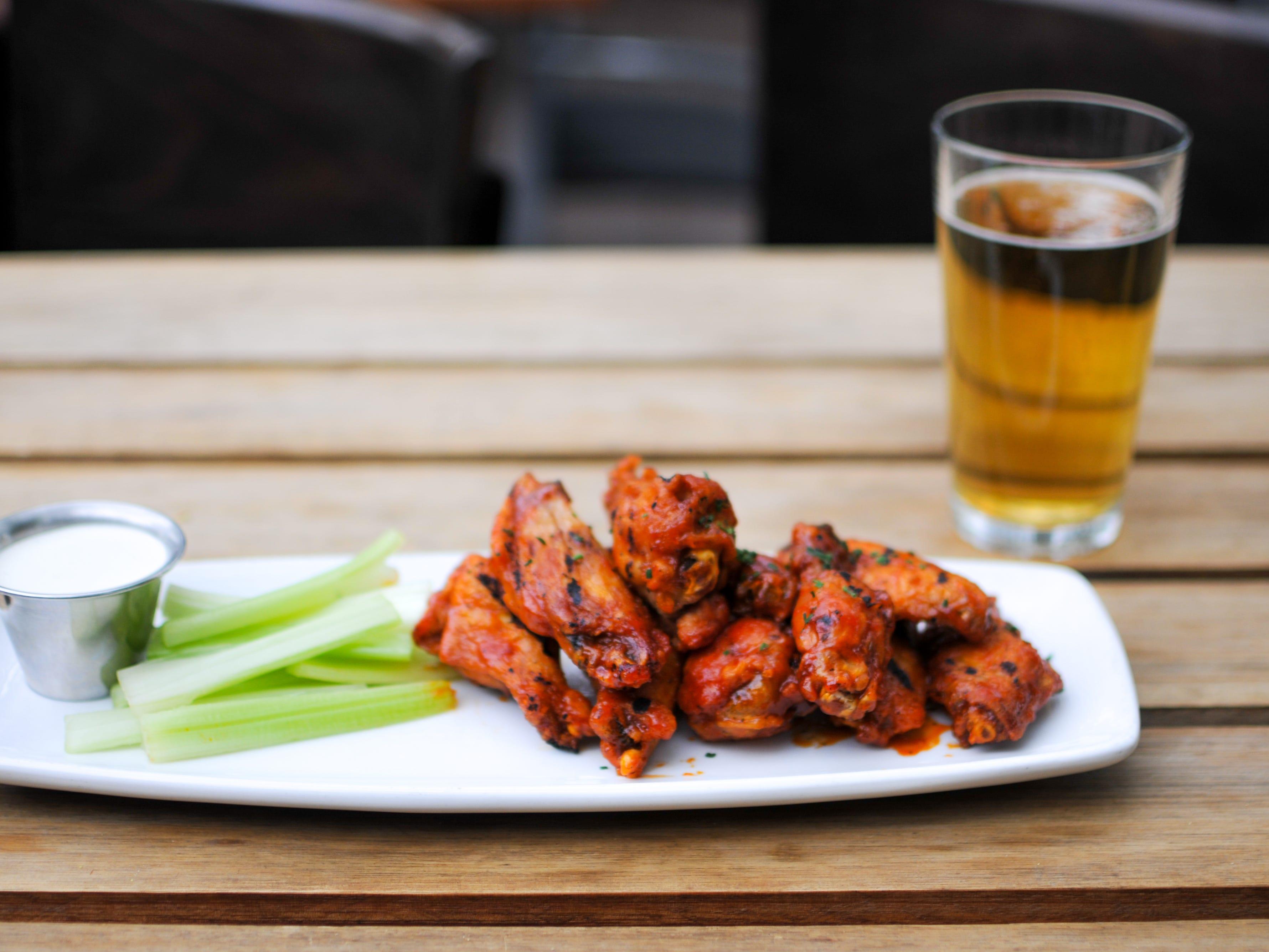 Wings at The Vig Restaurant.