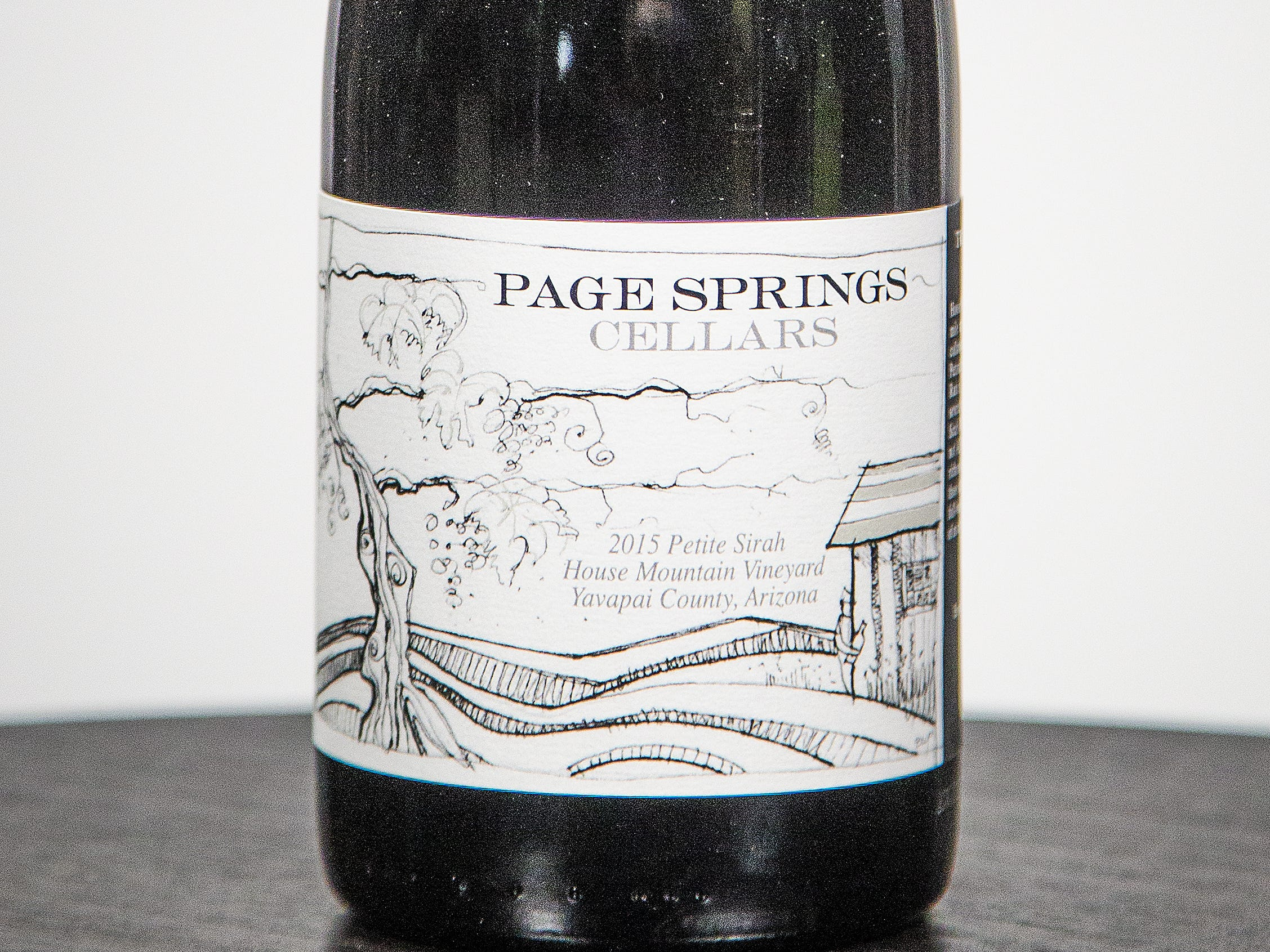 Best Petite Sirah: Page Springs Cellars 2015 House Mountain Vineyard Petite Sirah.