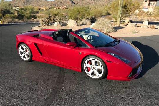 This 2007 Lamborghini Gallardo Spyder will be auctioned off at Barrett-Jackson in Scottsdale on Friday.