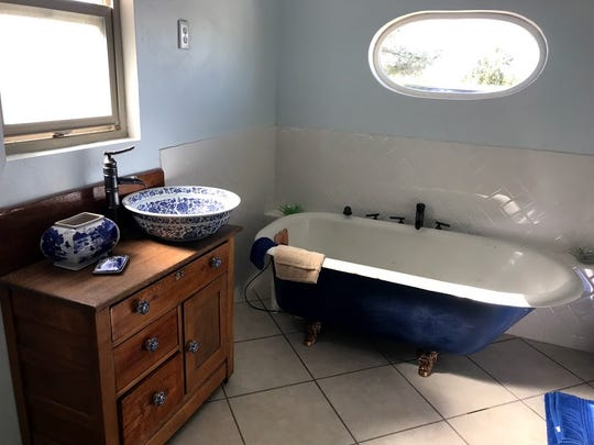 The remodeled bathroom in the Cantina House in Superior.