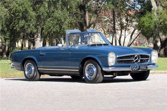 John Lennon's 1965 Mercedes-Benz 230SL Roadster will be auctioned off at Barrett-Jackson in Scottsdale on Saturday.