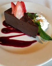 The ancho chocolate torte at Roaring Fork.