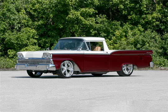 This 1959 Ford Ranchero Custom Pickup will be auctioned off at Barrett-Jackson in Scottsdale on Friday.