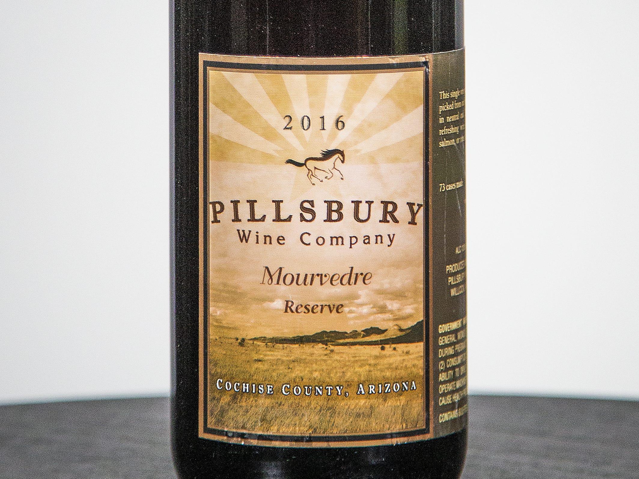 Best Mourvedre / Monastrell: Pillsbury Wine Company Mourvedre Reserve 2016.