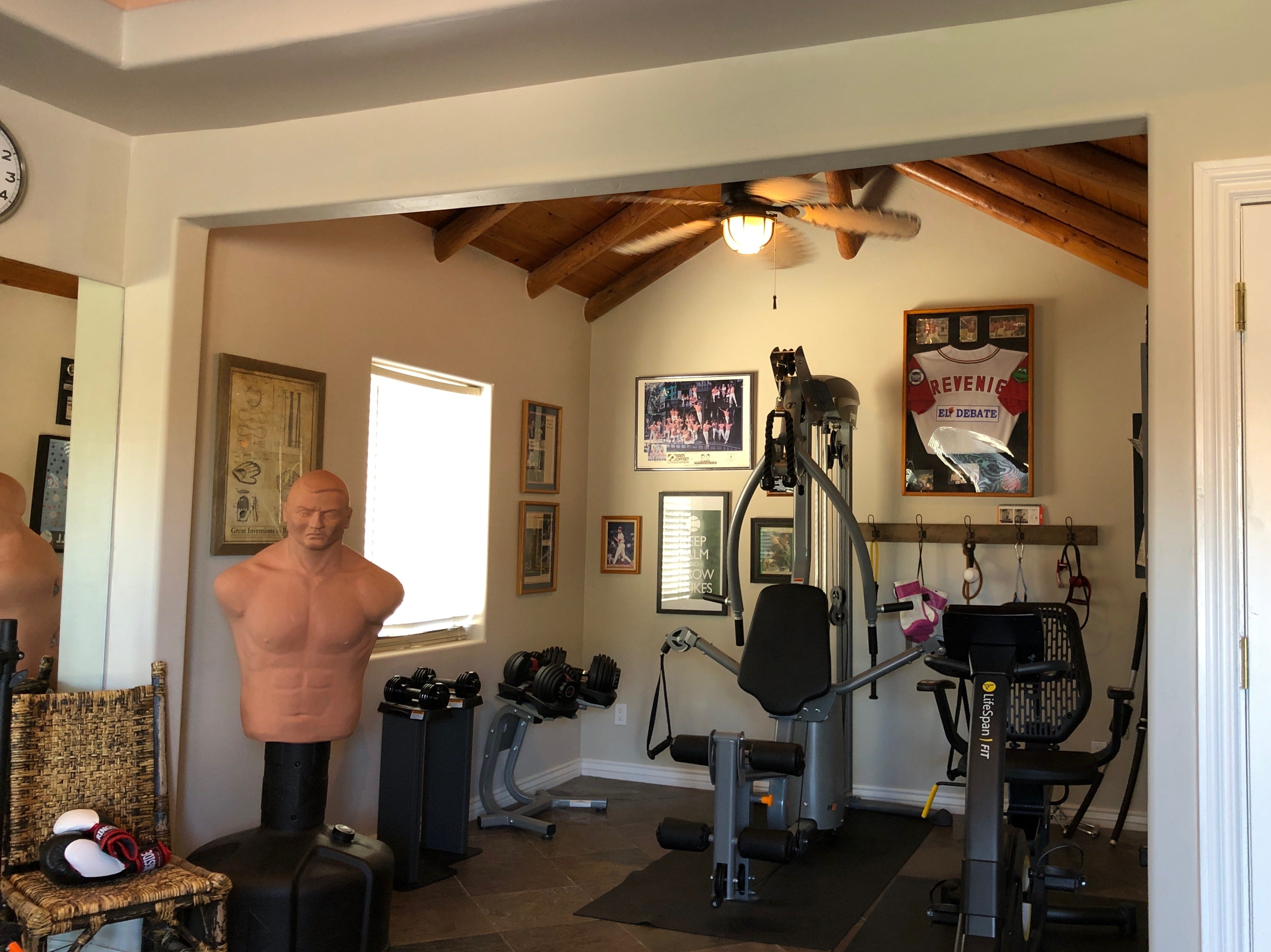 The Revenigs transformed a traditional casita into a well-equipped gym.