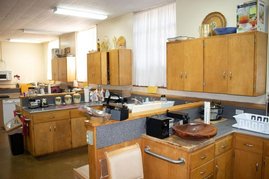 The home economics room in the former Superior High School, which has been converted into a home.