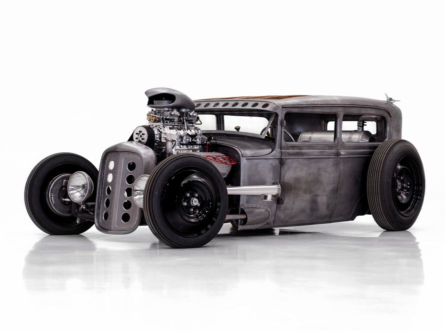 This 1930 Ford Model A Custom Sedan owned by Dale Stewart, bassist for Seether, will be auctioned off at Barrett-Jackson in Scottsdale on Friday.