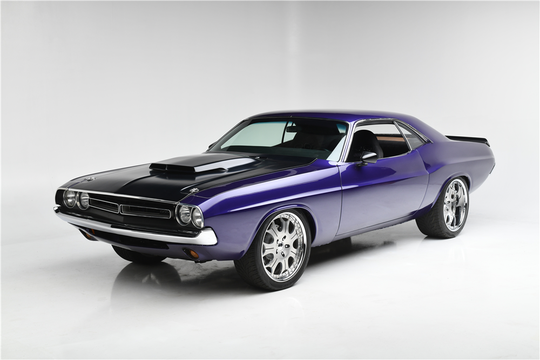 This 1971 Dodge Challenger Custom Hardtop will be auctioned off at Barrett-Jackson in Scottsdale on Friday.