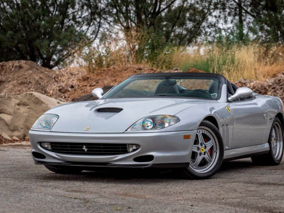 This 2001 Ferrari 550 Barchetta will be auctioned off at Barrett-Jackson in Scottsdale on Saturday.