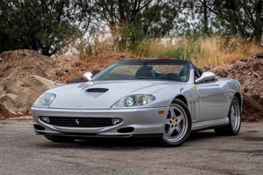 This 2001 Ferrari 550 Barchetta will be auctioned off at Barrett-Jackson in Scottsdale on Saturday.