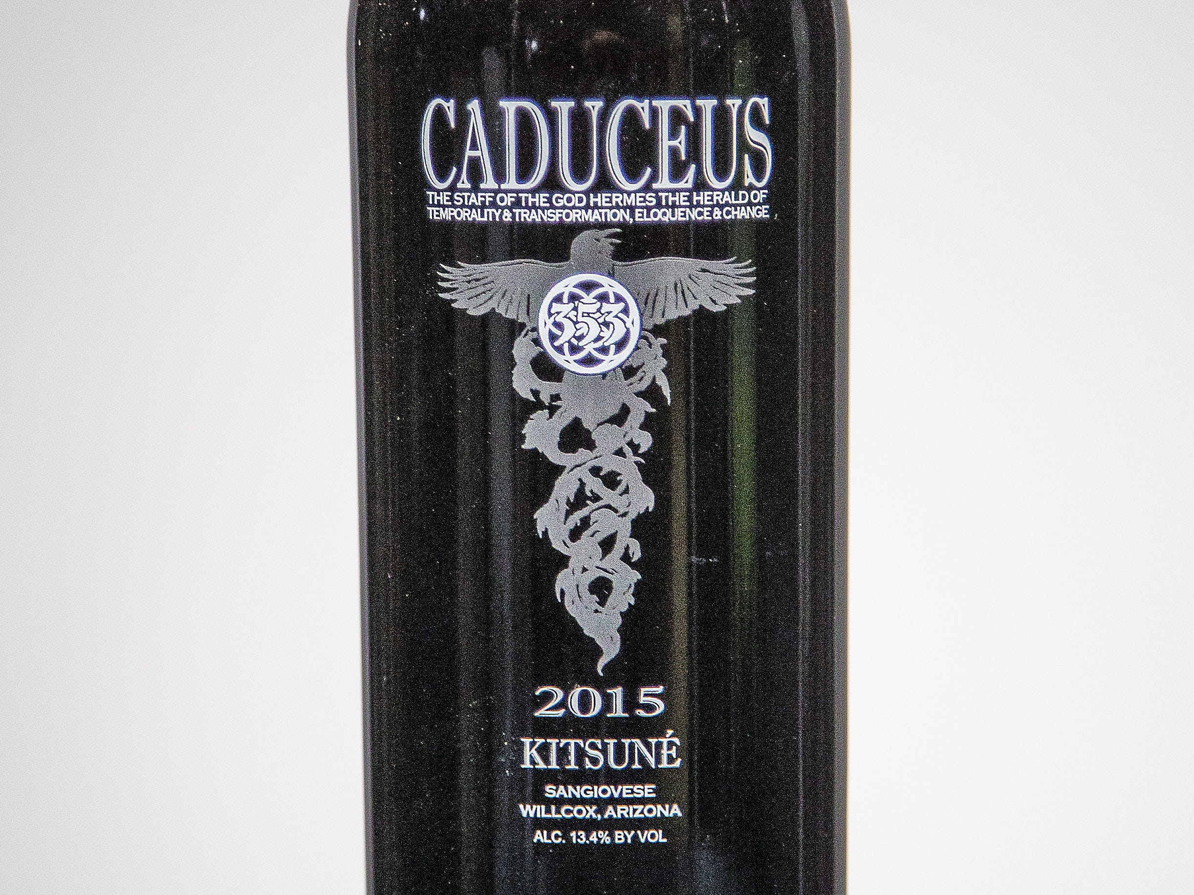 Best Sangiovese: Caduceus Cellars Kitsuné 2015.