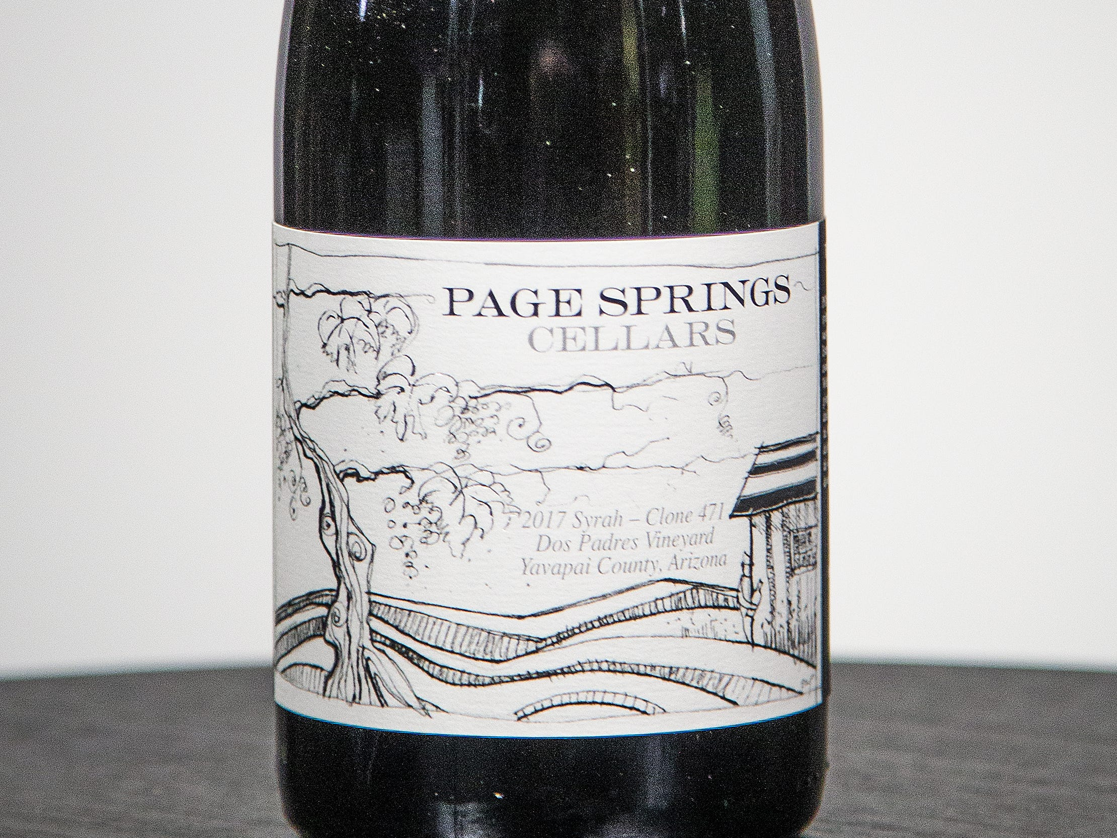 Best Syrah: Page Springs Cellars 2017 Dos Padres Vineyard Syrah Clone 471.