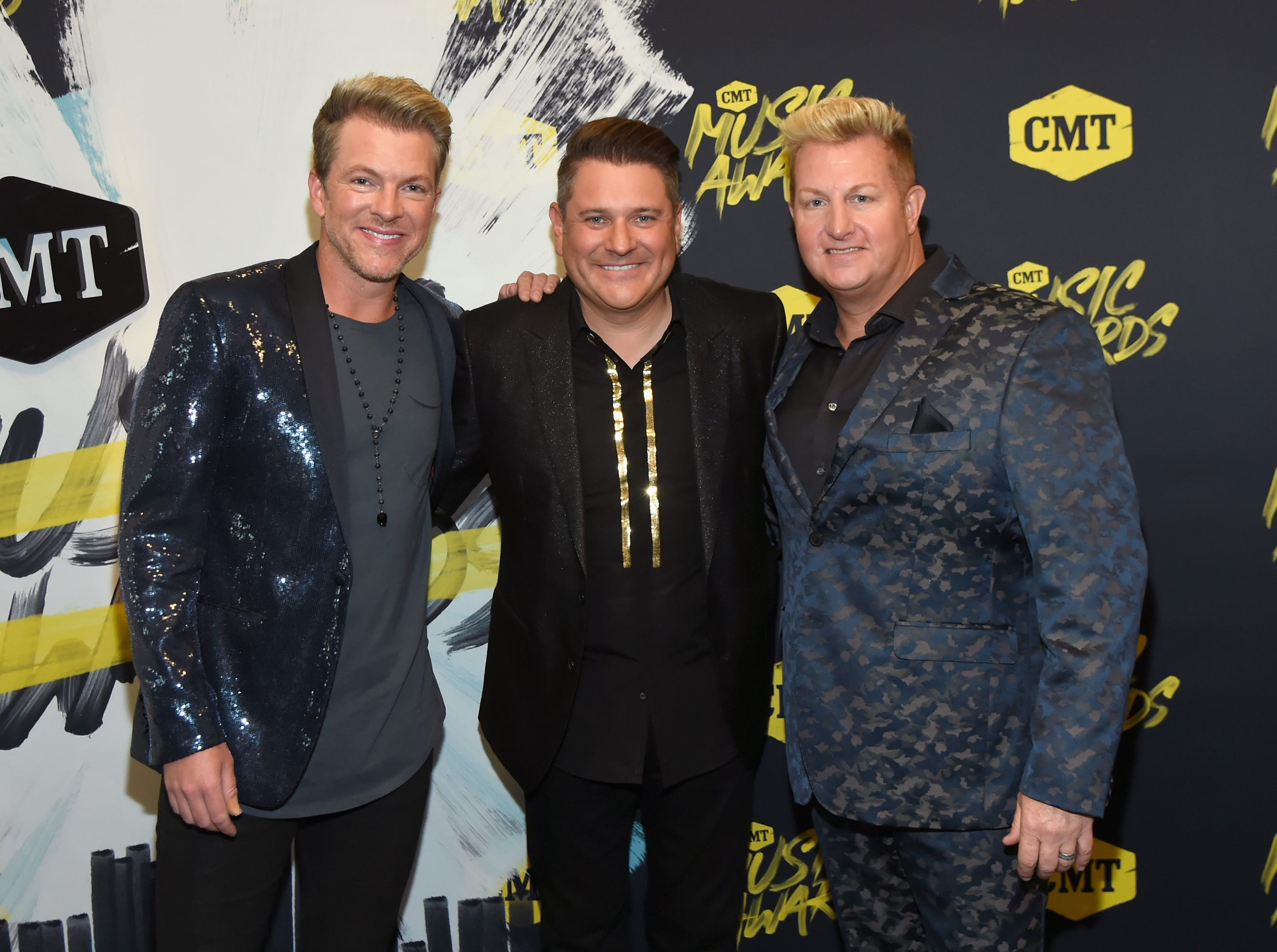 Rascal Flatts (Joe Don Rooney, Jay DeMarcus and Gary LeVox): Aug. 3, 2019.