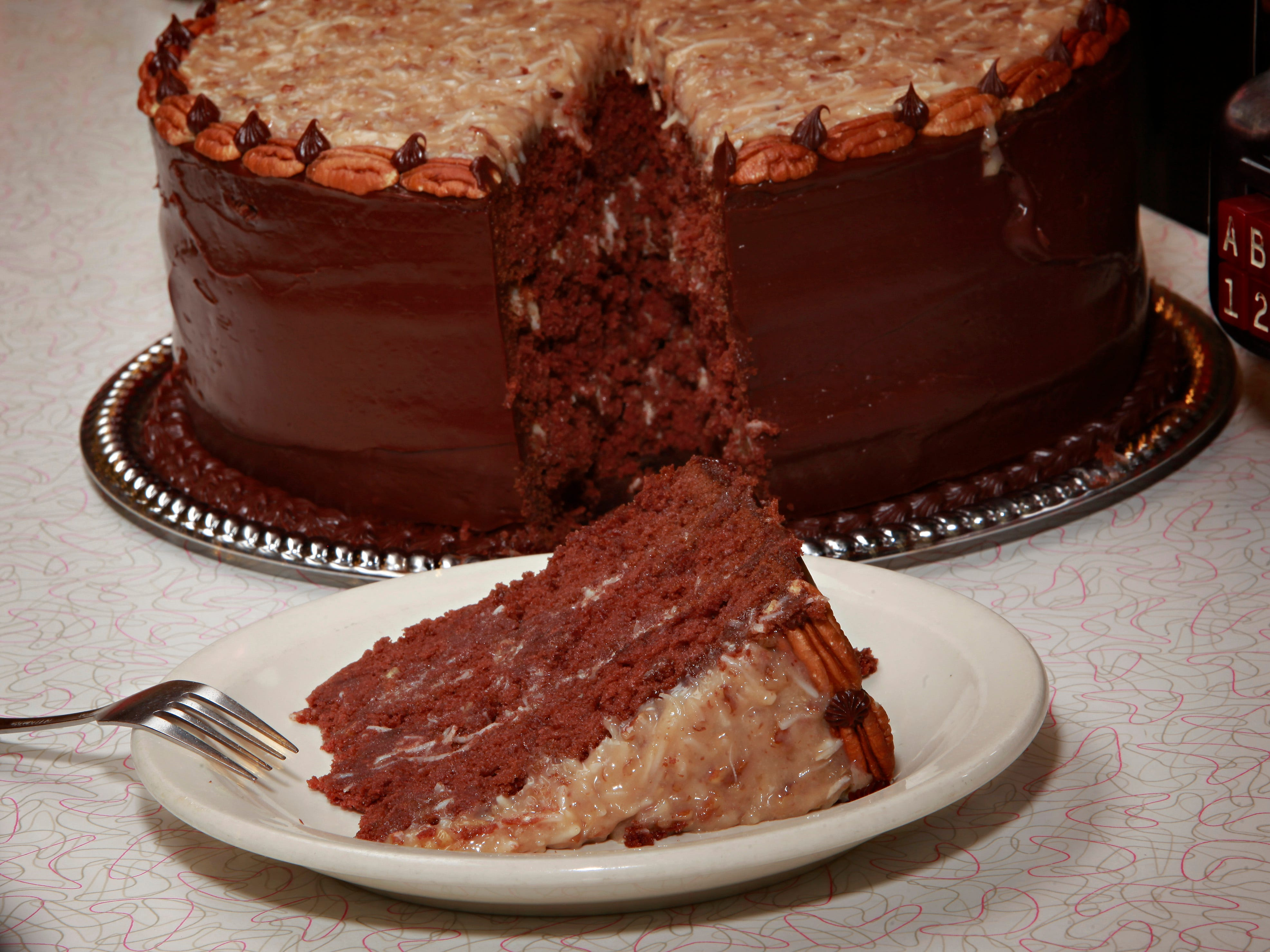 The German chocolate cake at Chase's Diner.