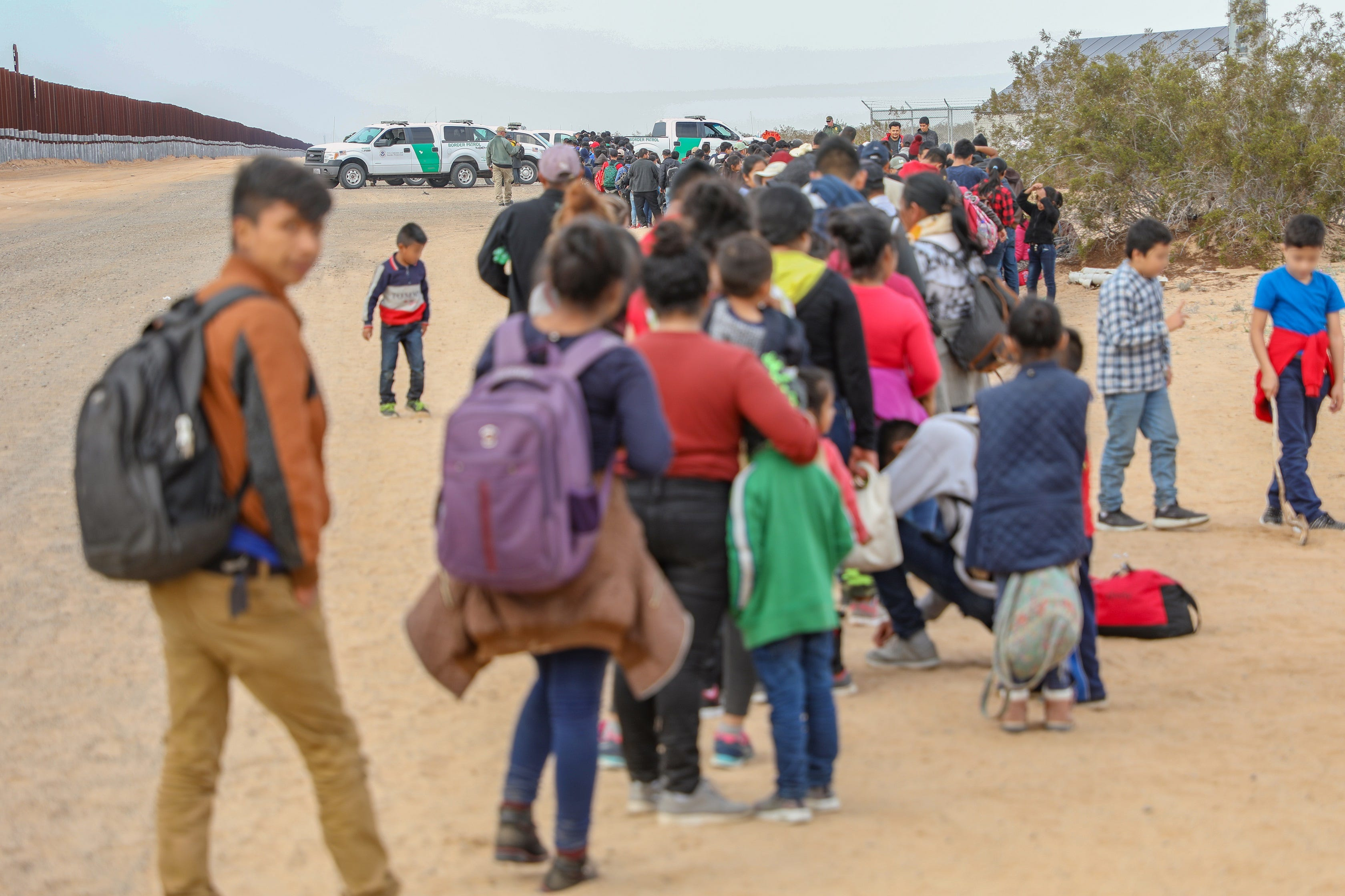 Largest-ever group of migrant families tunnels under Yuma, Arizona, border fence