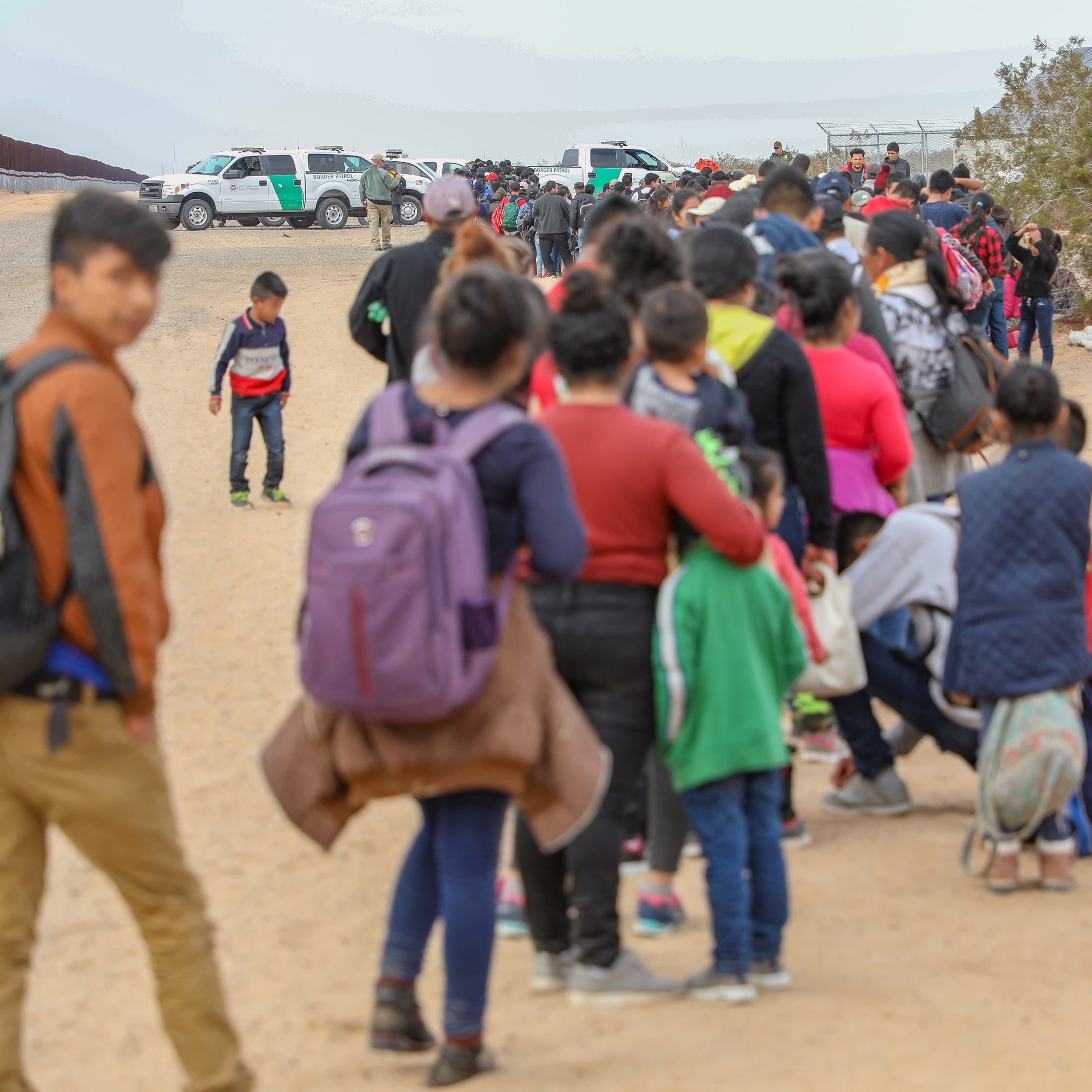 Largest-ever group of migrant families tunnels under Yuma border fence