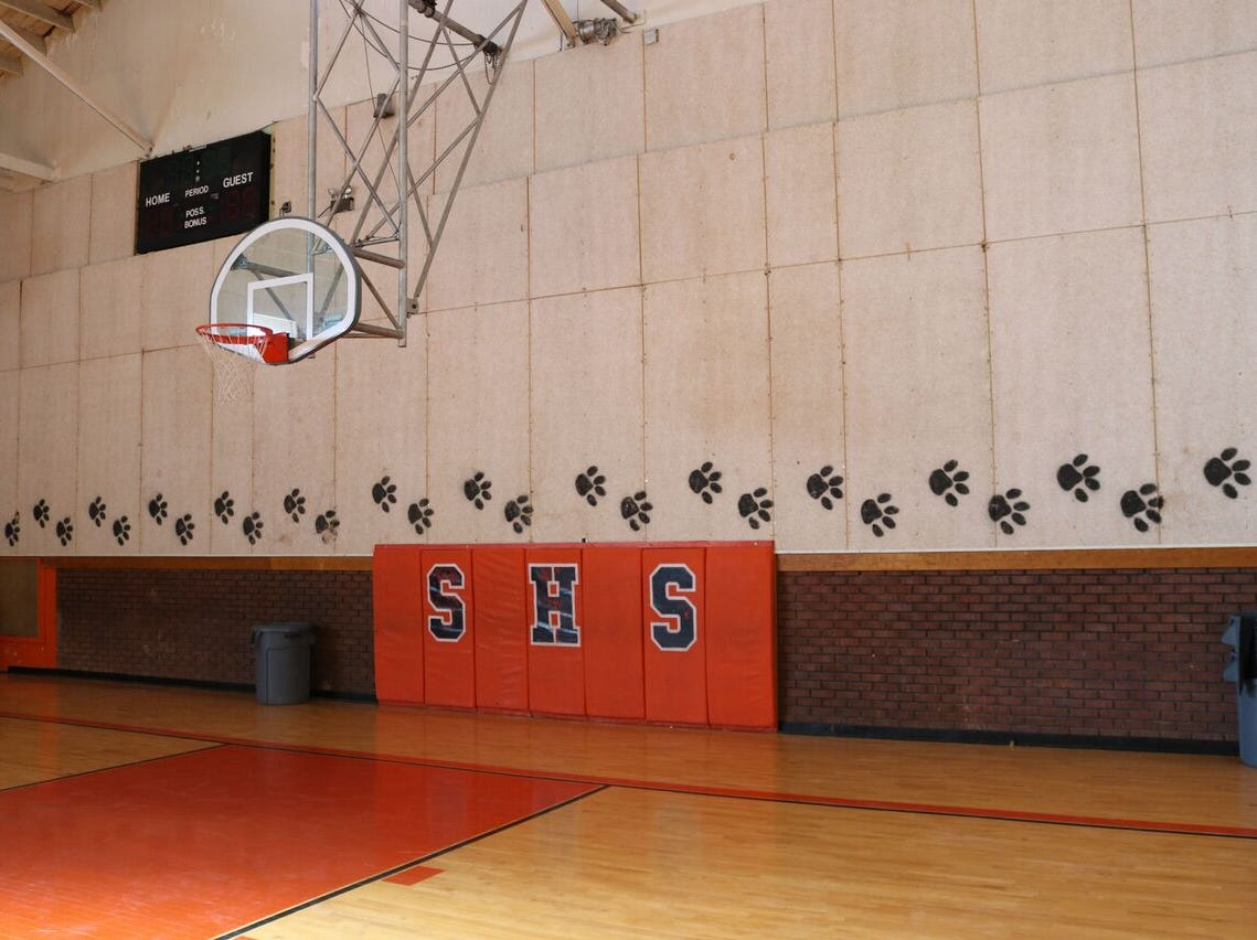 The gym in the old Superior High School.