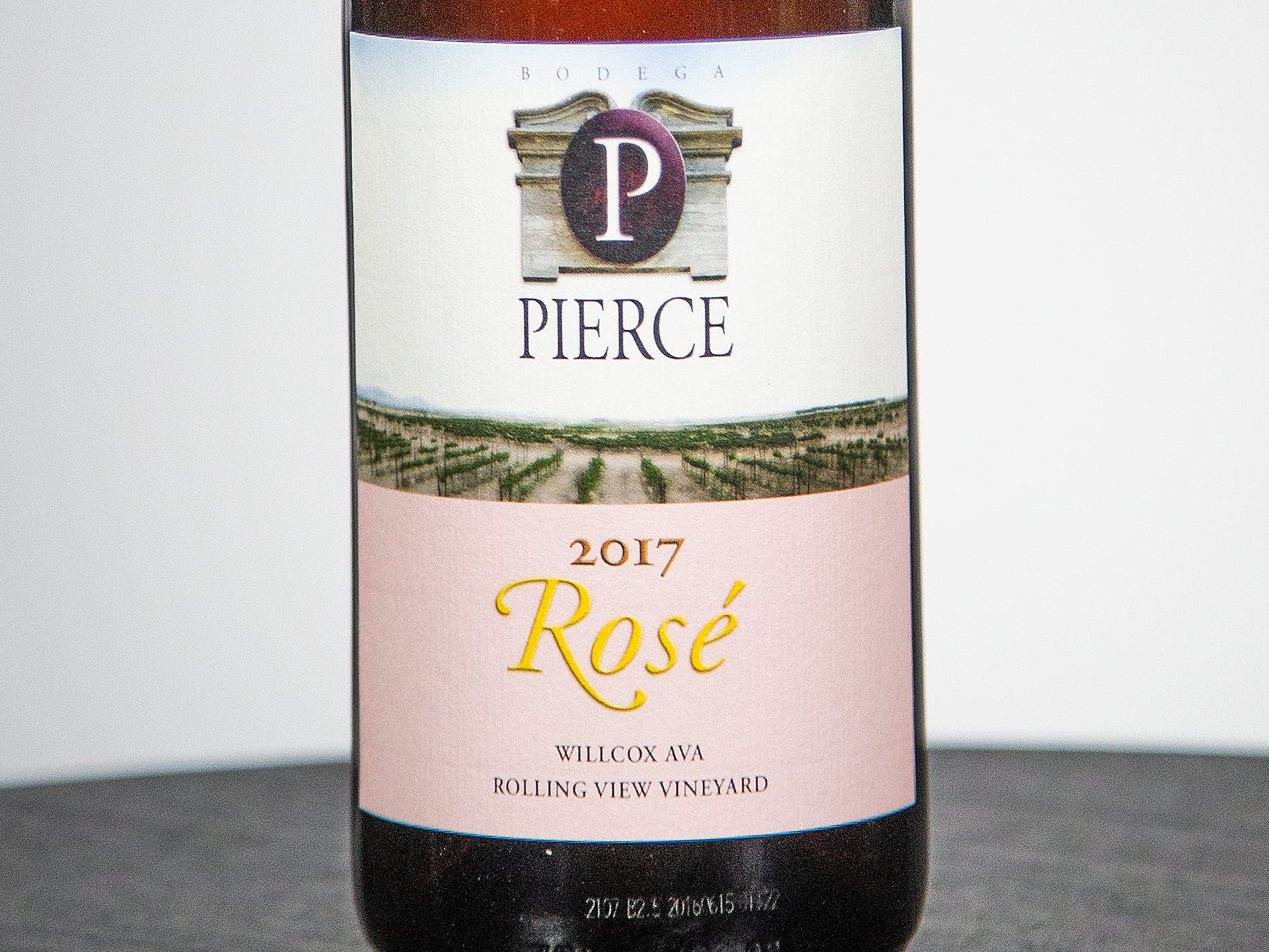 Best Single Varietal Rosé: Bodega Pierce Rosé 2017.