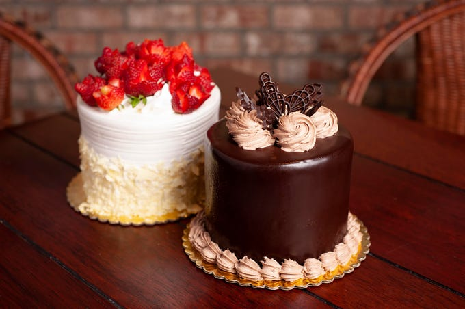 The seven-layer chocolate cake at Chompie's.