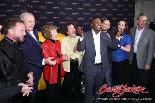 Singer Ray J placed the winning bid of $165,000 on a 1967 custom Camaro, all of which goes to benefit Childhelp through SEMA Cares.