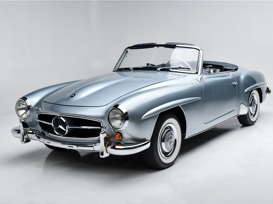 This 1962 Mercedes-Benz 190SL Roadster will be auctioned off at Barrett-Jackson in Scottsdale on Friday.