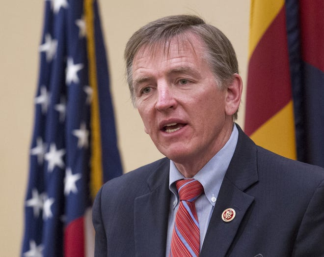 """U.S. Rep. Paul Gosar, R-Ariz., echoed the White House view that there is a crisis at the border and said the """"overwhelming majority"""" of those who have contacted his office support his position."""