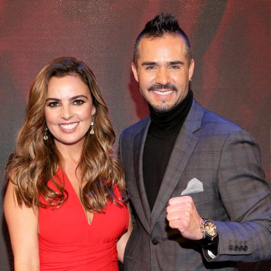 """Mariana Torres y José Ron la pareja de """"Ringo, la pelea de su vida""""."""