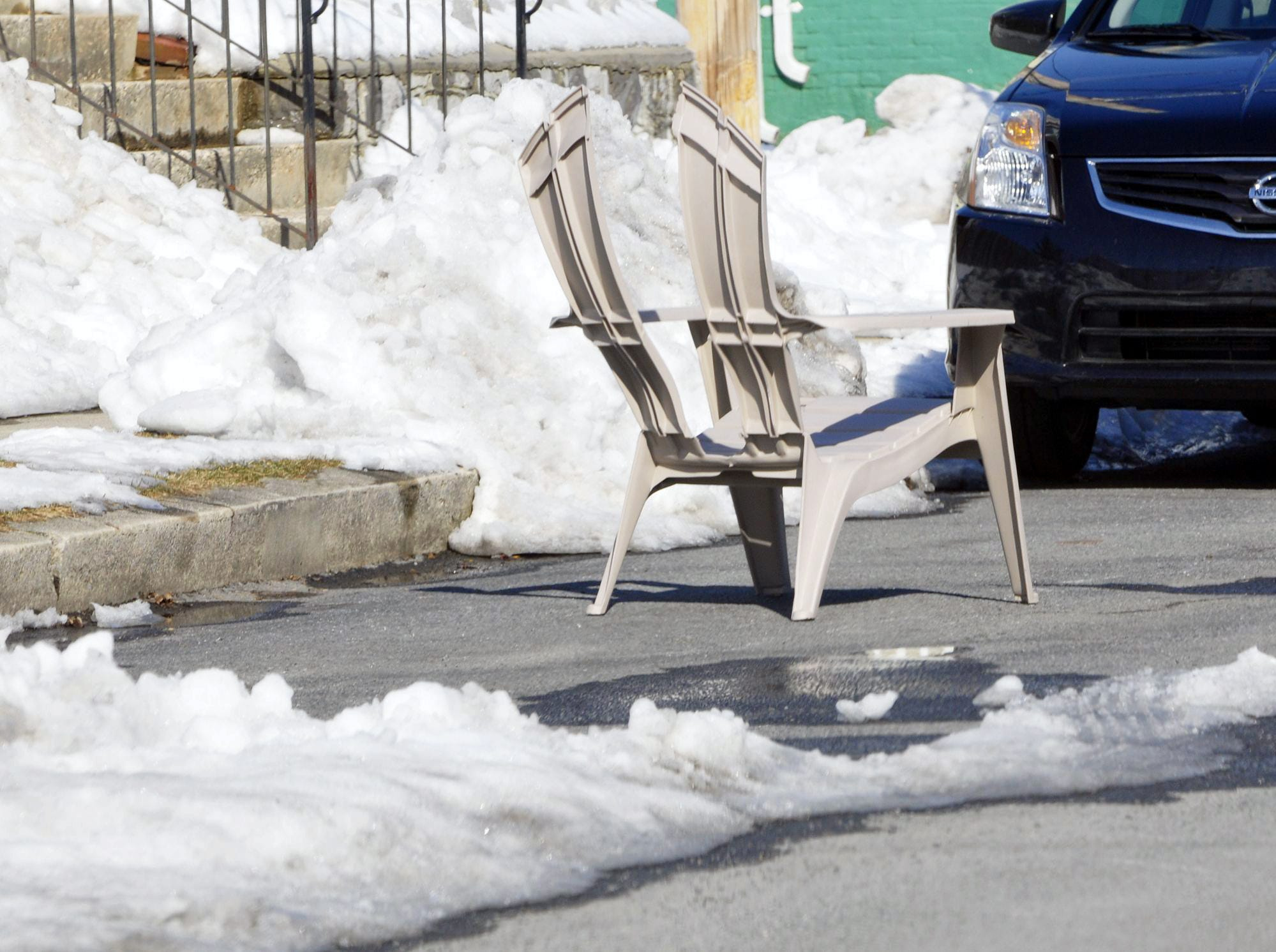If you have a broken chair, then you have a parking space saver!