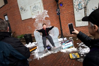 The fourth annual FestivICE event rocked downtown York with over 20 hand sculpted ice sculptures, free s'mores, sledding and so much more!
