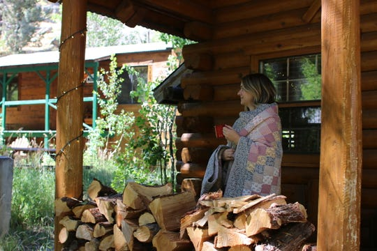 Cottages and cabins at Sorensen's Resort feature colorful quilts great for keeping warm while sipping morning coffee.