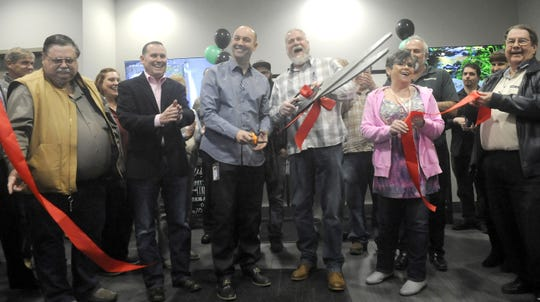 A ribbon cutting ceremony for Fernley's new dispensary was attended by city and county officials and those from the marijuana industry.