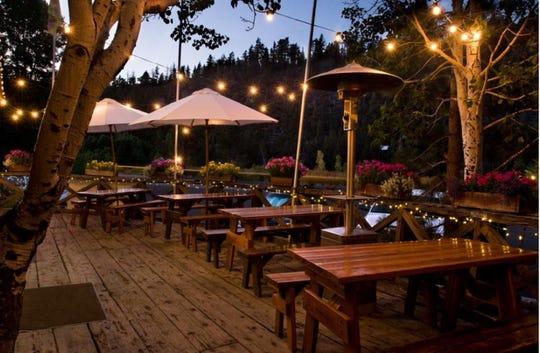 Sorensen's Resort offers al fresco dining in nice weather.