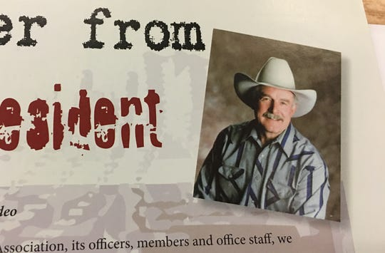 A photo of Jerry David from a letter he wrote in the 2006 Reno Rodeo program.