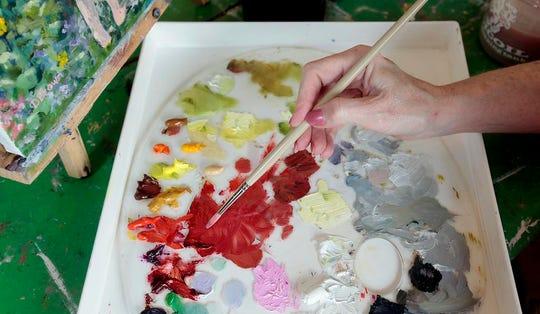 An artist's pallette
