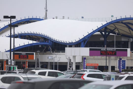 The Greater Rochester International Airport and its new main entrance.