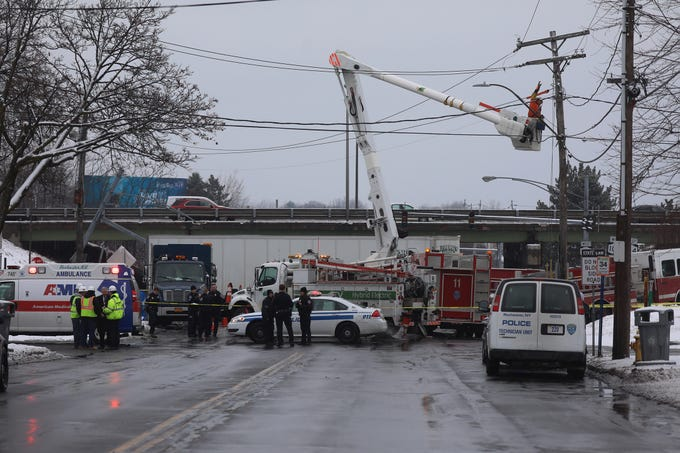 An RG&E truck was on scene at the crash.