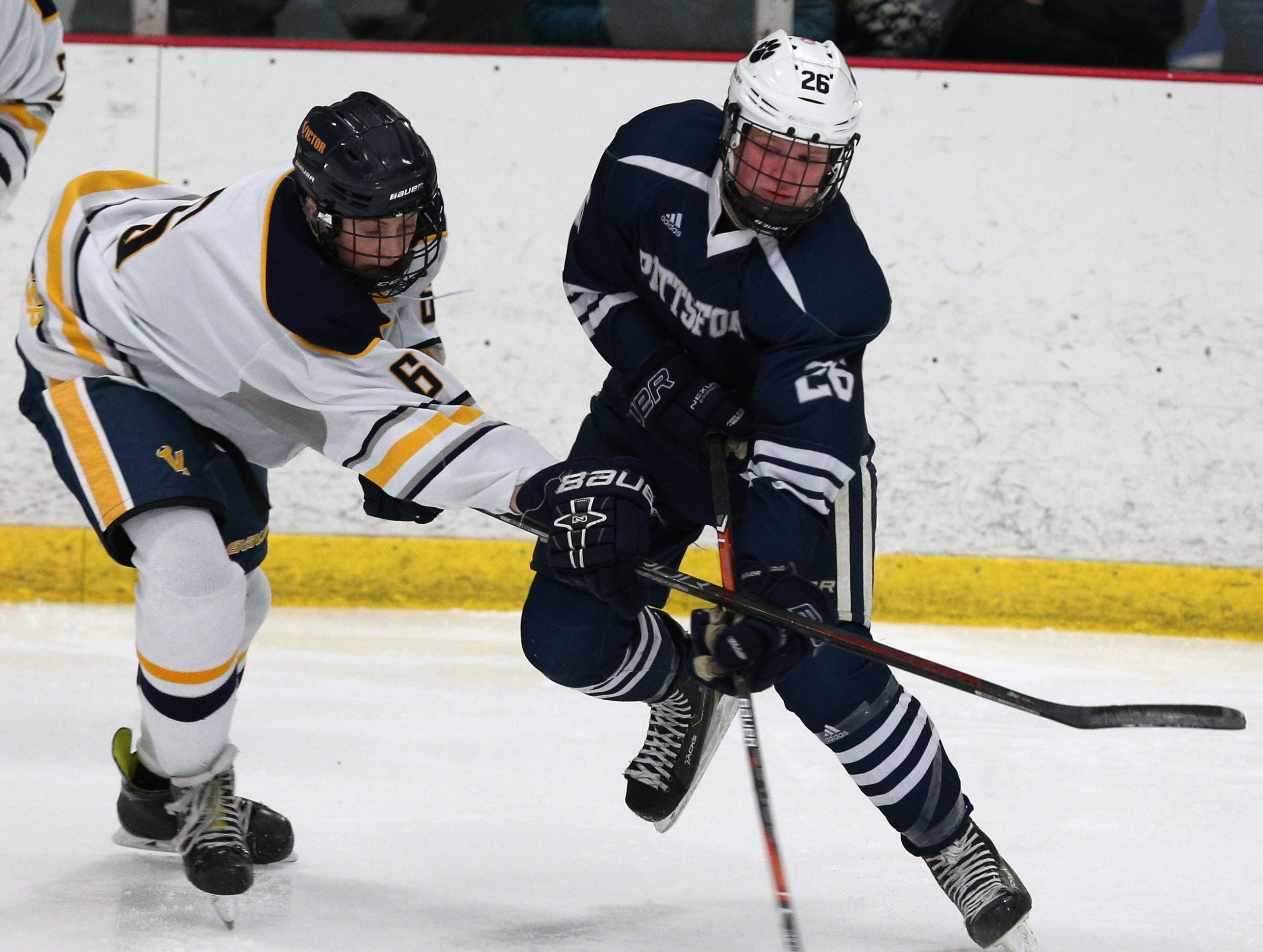 Victor  #6  Steven Armstrong against Pittsford # 26 Ronin VanDamme.
