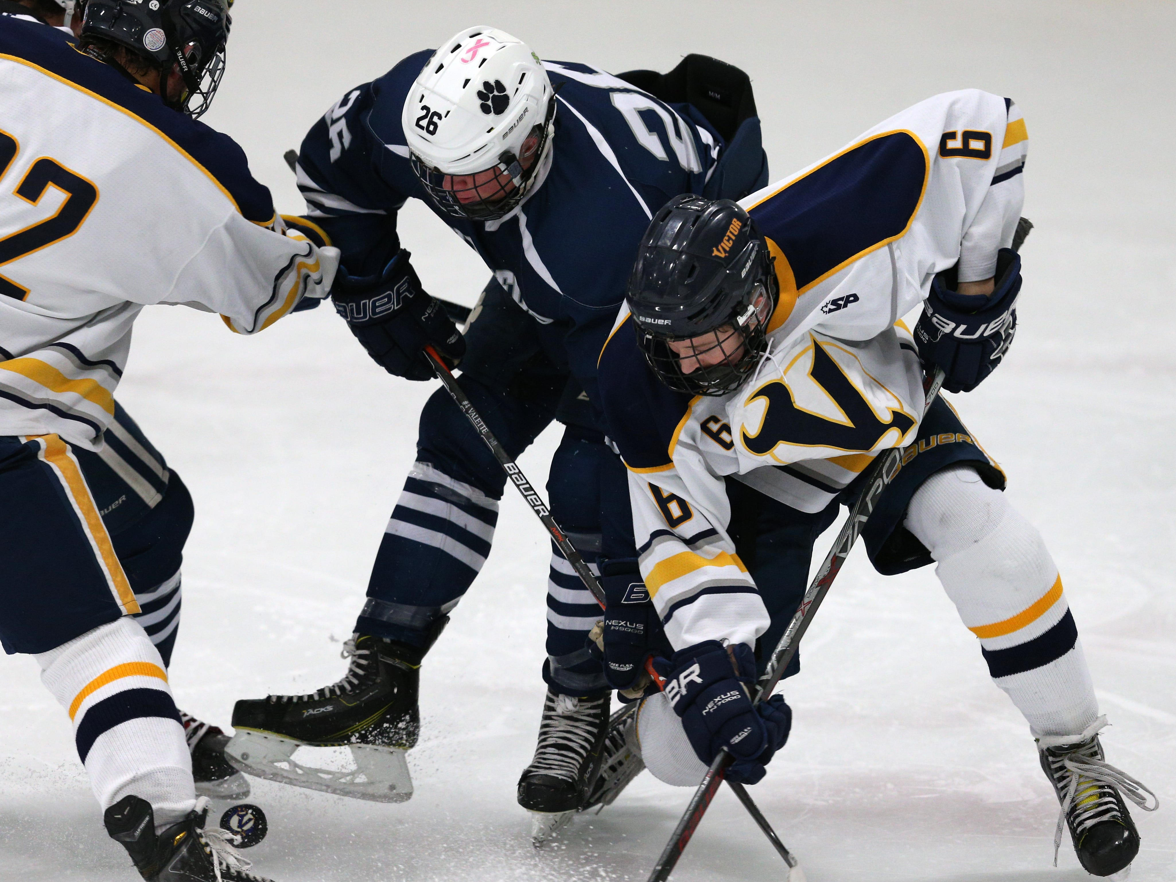 Pittsford #26 Ronin VanDamme against Victor #6 Steven Armstrong.