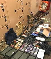 Pictured is some of the contraband that the RPD's Neighborhood Police Unit has confiscated in its two years of existence.