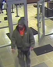 A bank surveillance photo shows the man who police say robbed Chase Bank on Dana Drive in Redding on Thursday night.
