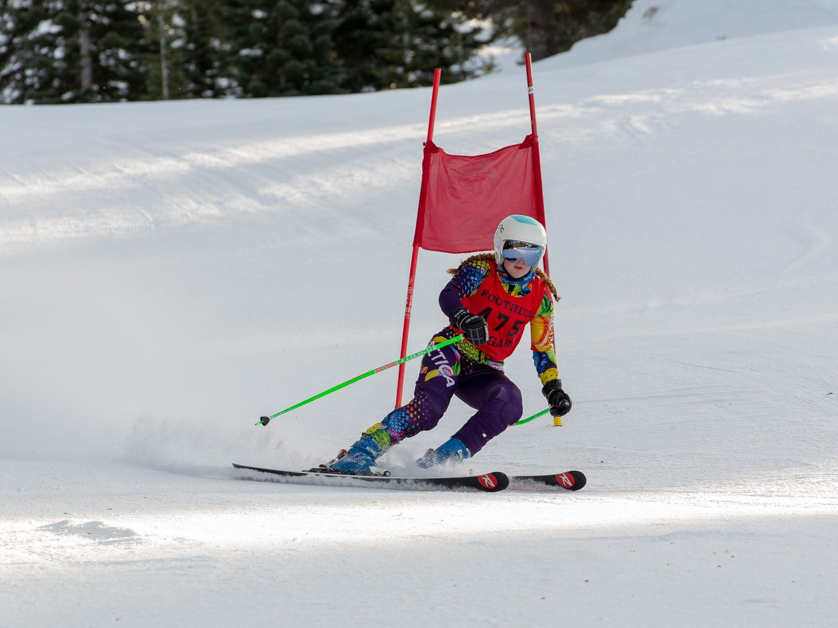 Sydnie Williams of Foothill competes in the first high school ski meet of 2019 on Monday, Jan. 14 at Mt. Shasta Ski Park.