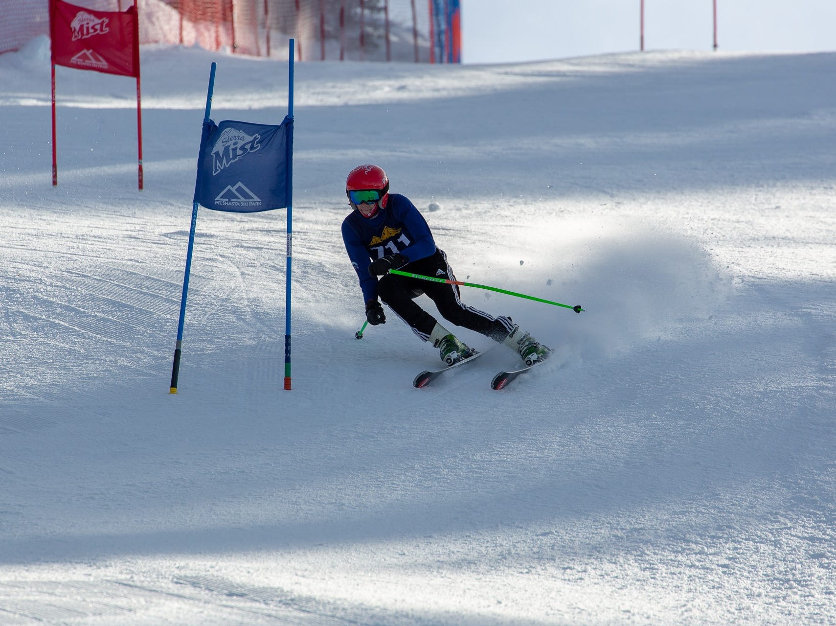Ian Anderson of Mount Shasta competes in the first high school ski meet of 2019 on Monday, Jan. 14 at Mt. Shasta Ski Park.