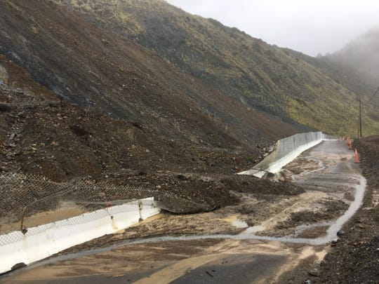 A mudslide occurred on Highway 1 near Paul's Slide during a round of storms this week.